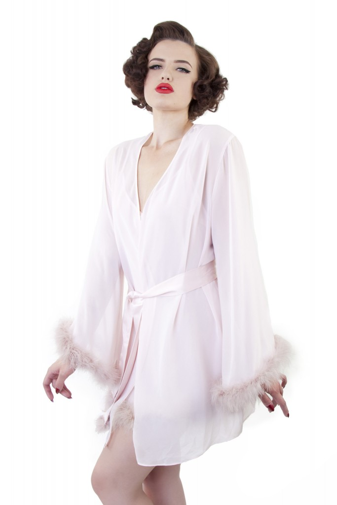 bettie page lingerie robe
