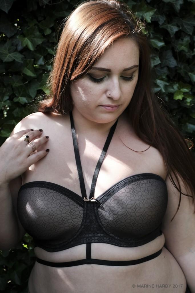 soutien gorge beandeau sas bretelles grande taille Fantasie blog lingerie