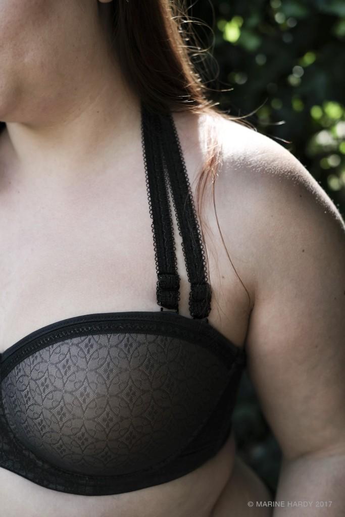 soutien gorge bandeau sas bretelles grande taille Fantasie blog lingerie bretelles